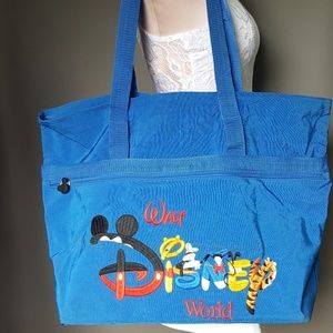 Walt Disney world blue large canvas tote